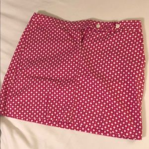 Jcrew pink and white miniskirt
